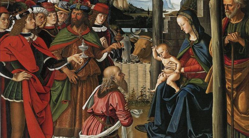 Pietro Vannucci, detto Perugino - Adorazione dei Magi circa 1473 olio su tavola, 242 x 180 cm Perugia, @ Galleria Nazionale dell'Umbria - particolare