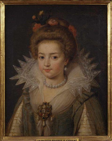 Frans Pourbus il Giovane, Ritratto di Cristina di Francia, duchessa di Savoia, 1612, olio su tela. Firenze, Gallerie degli Uffizi, Galleria Palatina e Appartamenti Reali.
