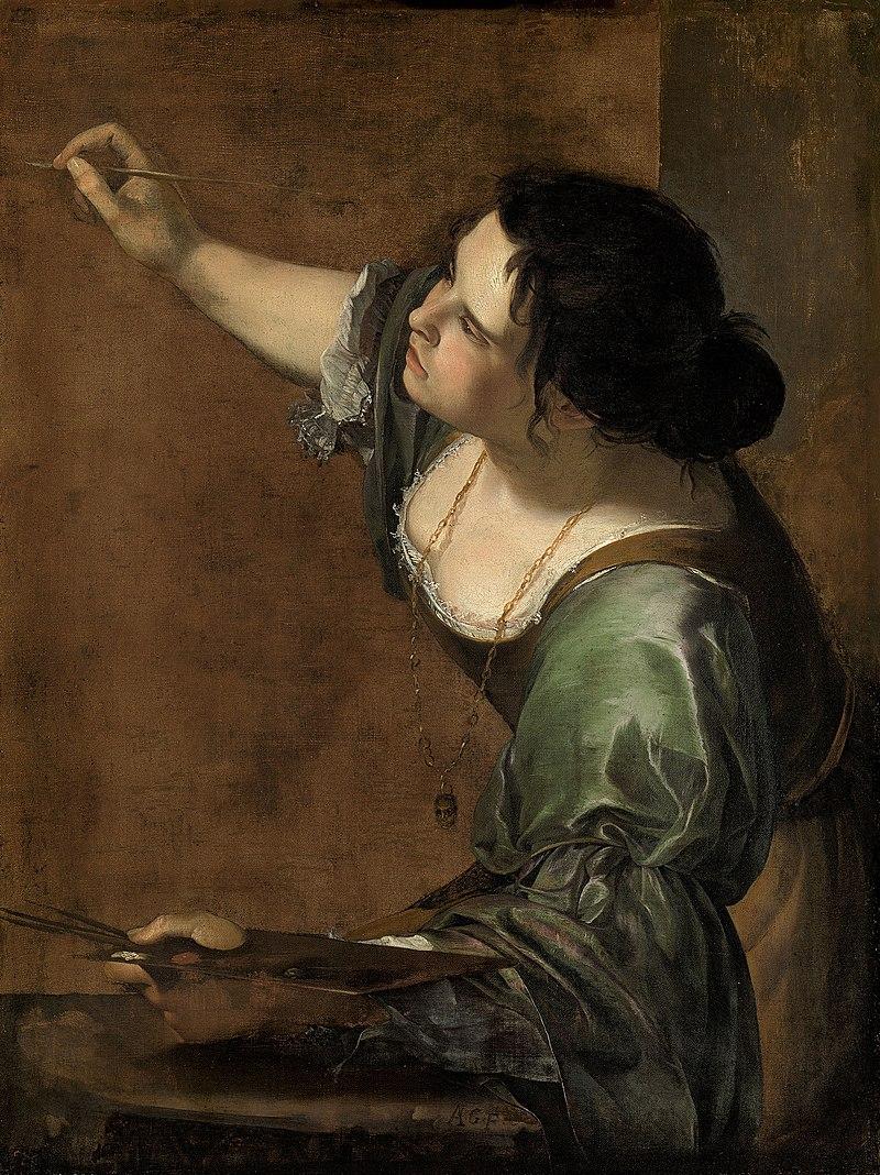Artemisia Gentileschi, Autoritratto come allegoria della Pittura (1638-1639); olio su tela, 98,6×75,2 cm, Royal Collection, Windsor