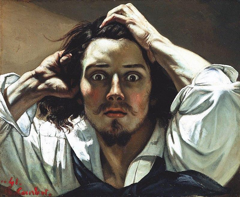 Autoritratti famosi: Courbet, Autoritratto