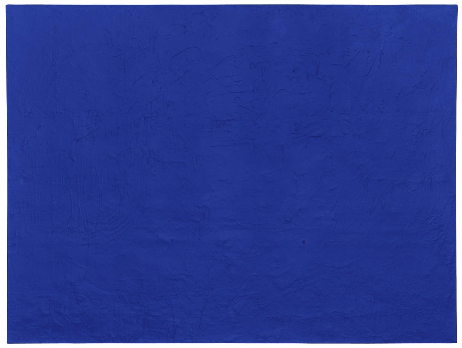 monocromo: Yves Klein - Pigment pur et résine synthétique sur gaze montée sur panneau 150 x 198 cm © Succession Yves Klein c/o ADAGP Paris