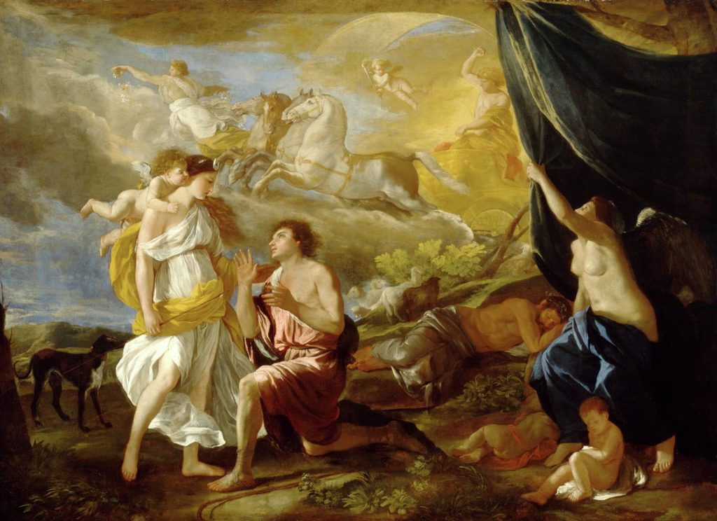 Nicolas Poussin Selene and Endymion, ca. 1630 oil on canvas - © Detroit Institute of Arts