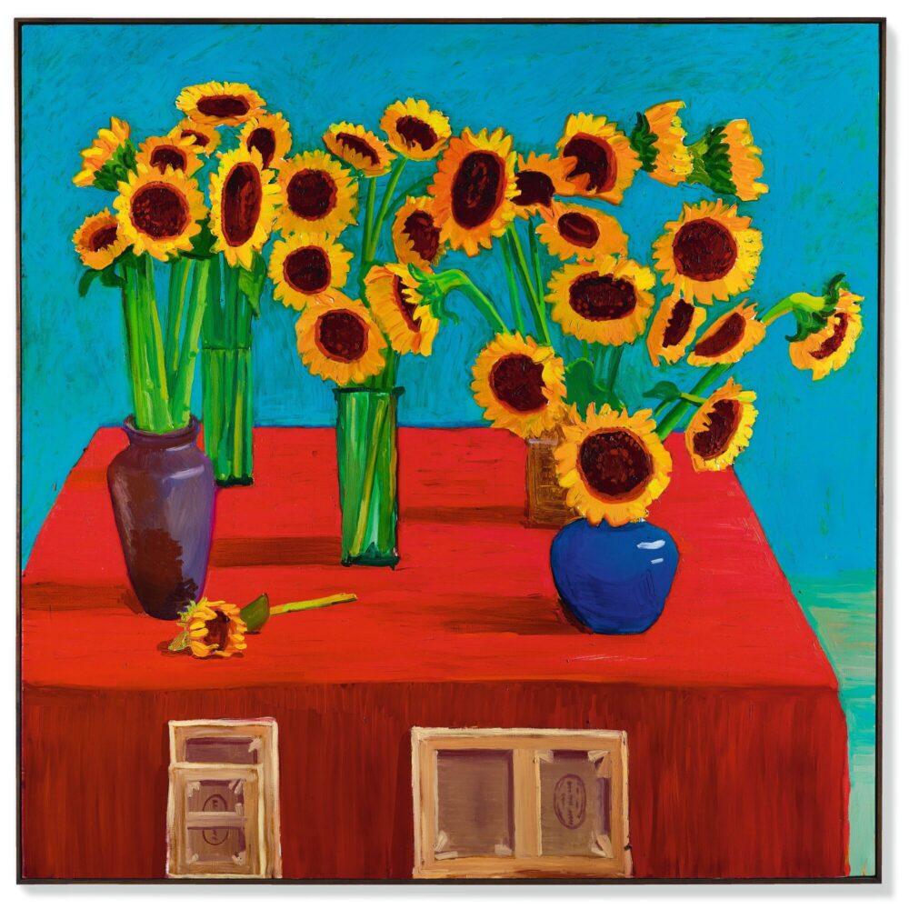 David Hockney 30 girasoli