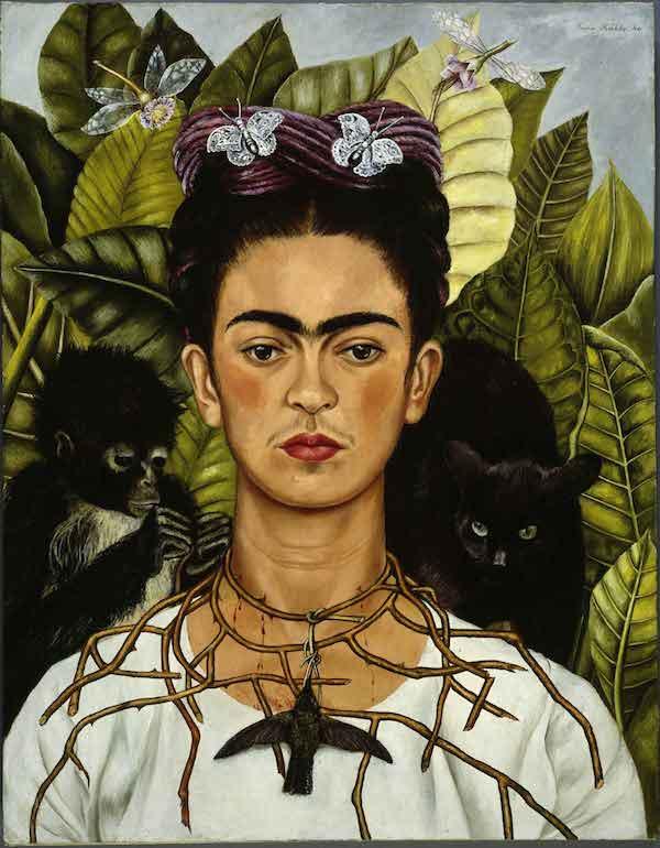 Frida Kahlo Autoritratto con collana di spine e colibrì, 1940 Olio su lamina metallica 63,5 x 49,5 cm Harry Ranson Center, USA Riproduzione formato Modlight © Banco de México Diego Rivera & Frida Kahlo Museums Trust, México D.F.