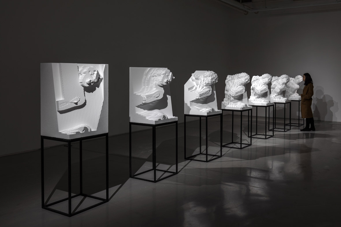 Serie Pluto and Proserpina, 2019 High-Density EPS, 45x55x80(h) cm Installation view HOW Art Museum – Shanghai, China, 2019