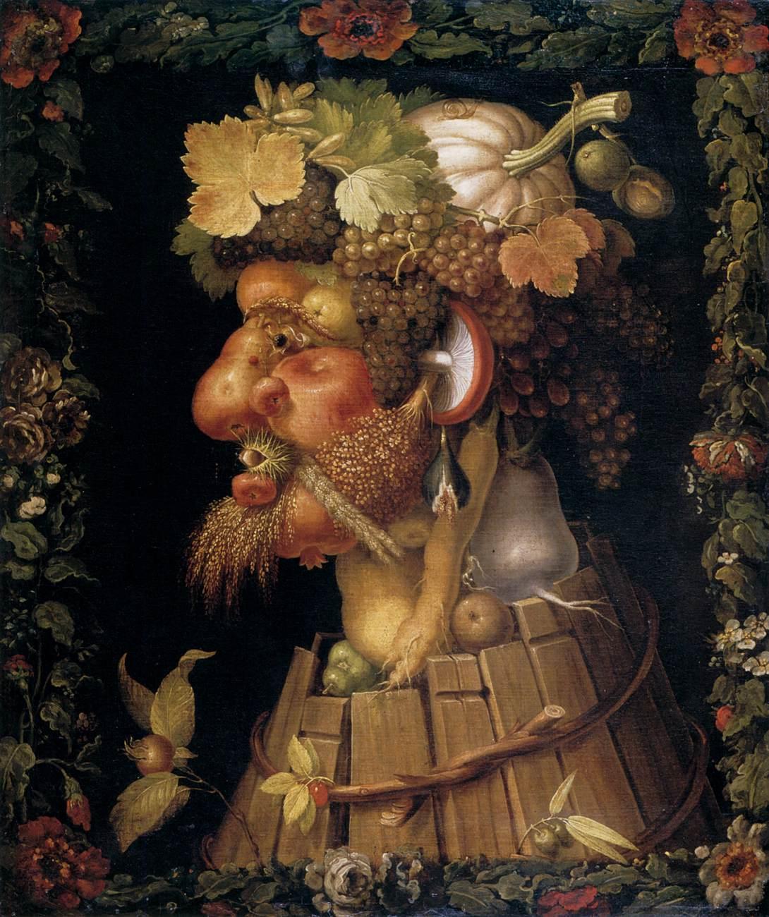 L'Autunno (1572) Giuseppe Arcimboldo – Olio su tela, 91,4×70,2 cm – Denver, Denver Art Museum, lascito di John Hardy Jones
