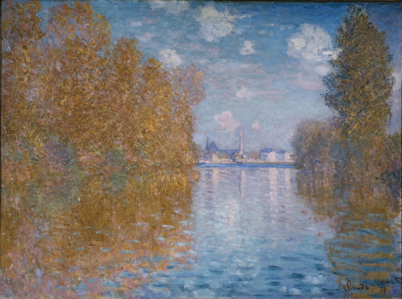 Claude Monet (1840-1926), Autumn Effect at Argenteuil, 1873, @The Samuel Courtauld Trust, The Courtauld Gallery, London.