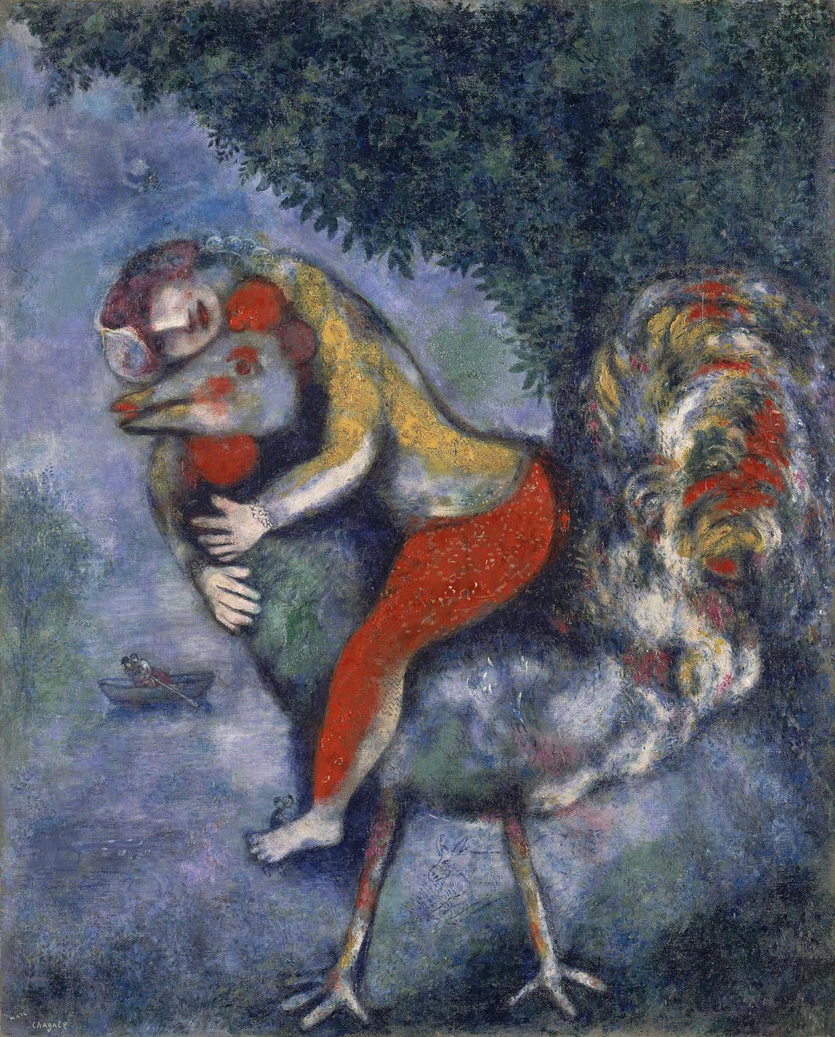 Marc Chagall, Il Gallo, 1928, Madrid, Museo Museo Nazionale Thyssen-Bornemisza © Chagall ®, by SIAE 2020