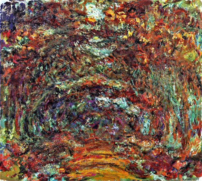 Claude Monet, The Rose Path, Giverny, 1920-22, Musée Marmottan Monet, Paris, France