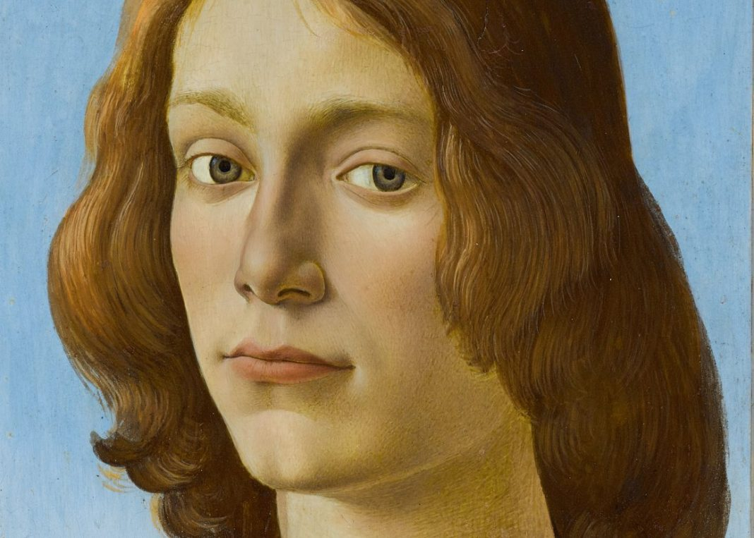 SANDRO BOTTICELLI'S YOUNG MAN HOLDING A ROUNDEL. ESTIMATE UPON REQUEST © Sotheby's