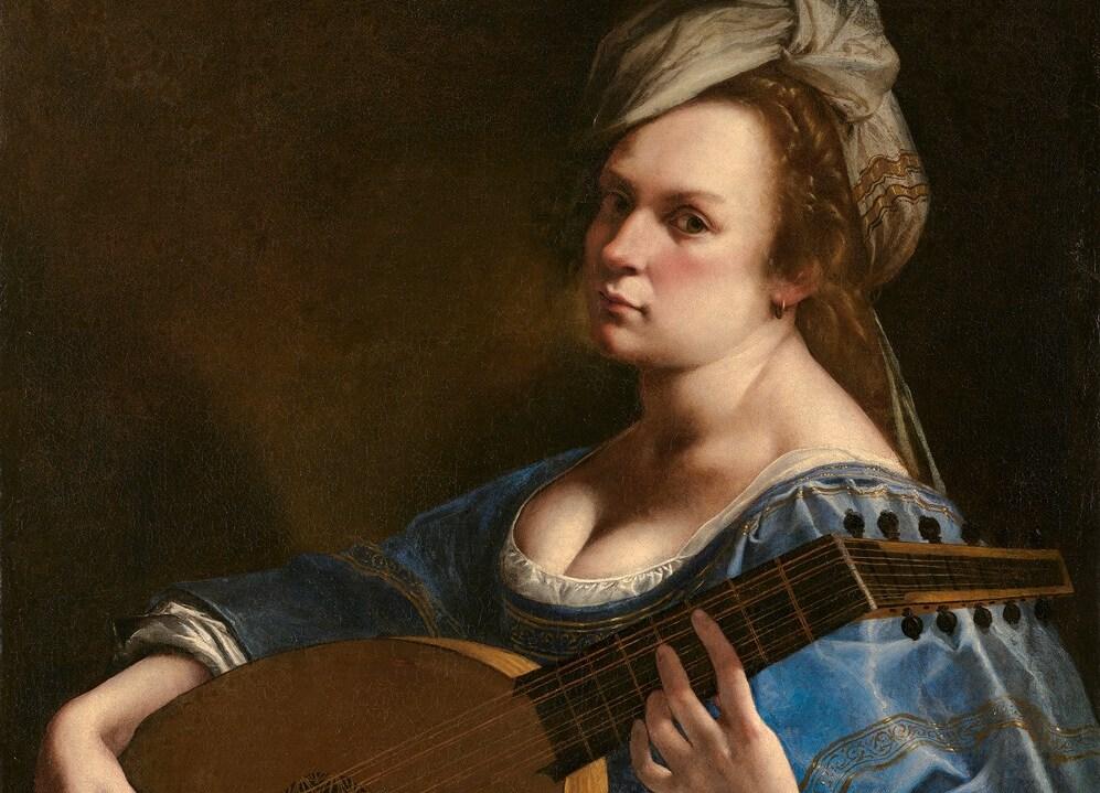 Image- Artemisia Gentileschi, 'Self Portrait as a Lute Player', about 1615-17. Wadsworth Atheneum Museum of Art, Hartford, Connecticut. Charles H. Schwartz Endowment Fund 2014.4.1 © Wadsworth Atheneum Museum of Art