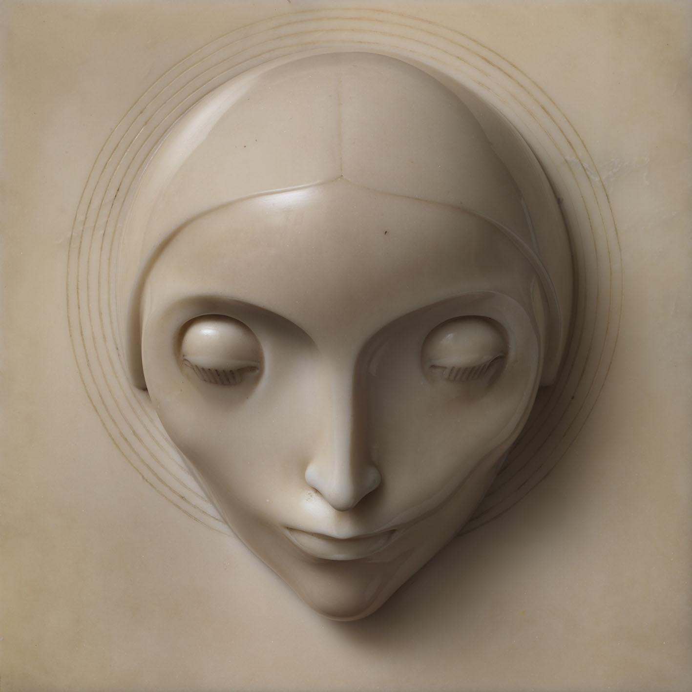 Adolfo Wildt: La concezione, 1921, Marmo bianco di Carrara, cm 26,5 x 27