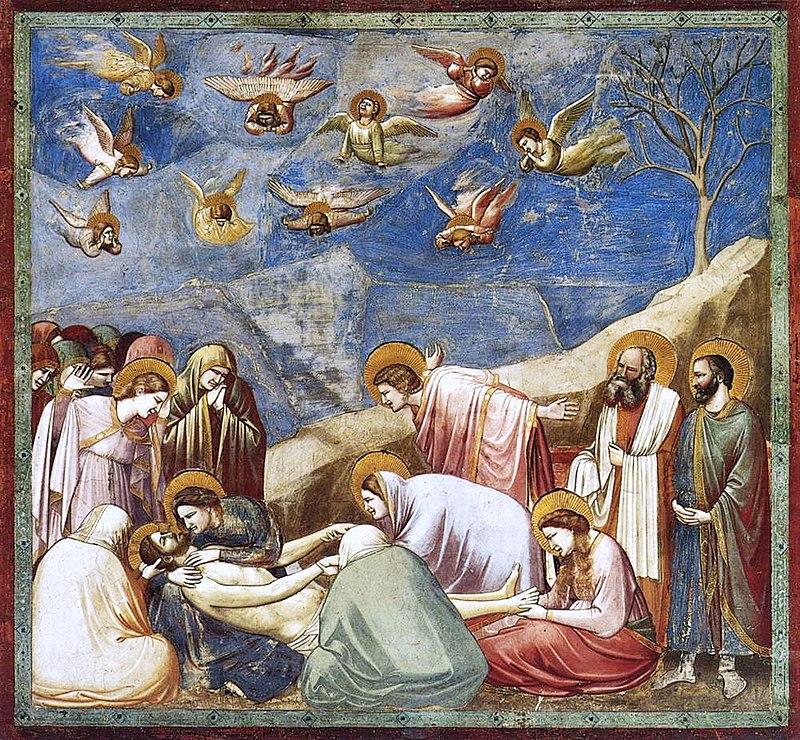 Giotto, Compianto sul Cristo morto, 1303-1305 circa - Tecnica: affresco, 200×185 cm © Cappella degli Scrovegni, Padova - Patrimonio Unesco