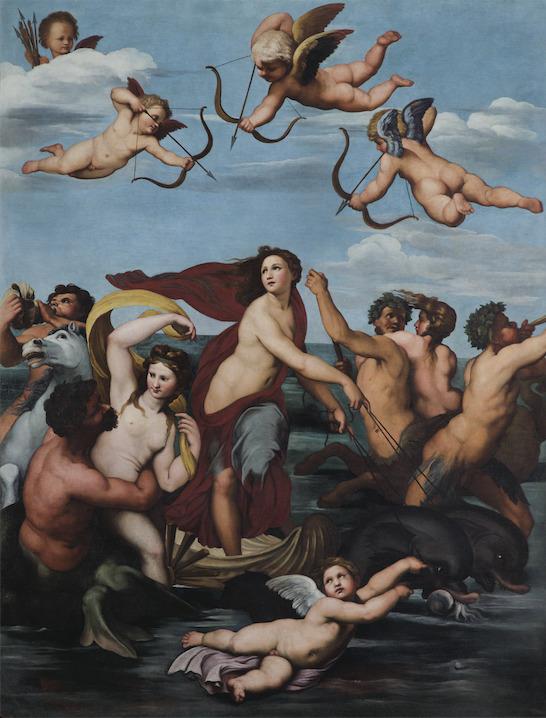 Pietro da Cortona, Trionfo di Galatea, 1624 c. olio su tela Roma, Accademia Nazionale di San Luca -