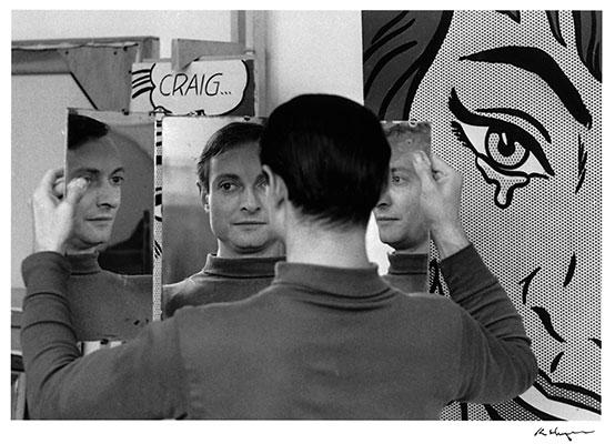 Roy Lichtenstein in his studio at 36 West 26th Street, New York, 1964. © Ken Heyman:Courtesy The Roy Lichtenstein Foundation Archives
