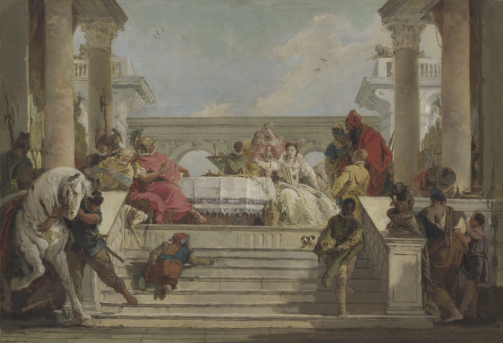 Giambattista Tiepolo Il banchetto di Cleopatra, 1696-1770 olio su tela, 46,30 x 66,70 cm Londra, The National Gallery © The National Gallery, London. Presented by the Misses Rachel F. and Jean I. Alexander; entered the collection, 1972