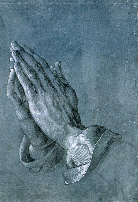 Studio di mani di un apostolo pregare mani Albrecht Durer - pennello - 290 x 197 cm - 1508 - (Graphische Sammlung Albertina (Vienna, Austria))