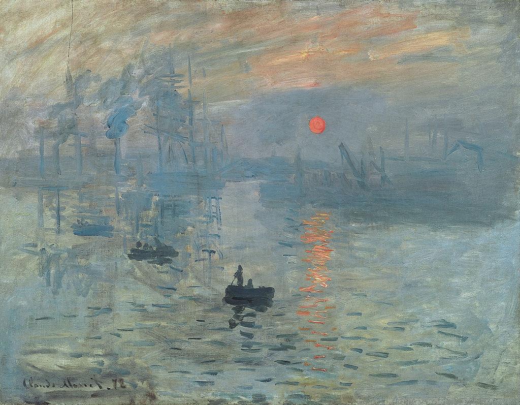 Claude Monet, Impressione, levar del sole (1872); olio su tela, 48×63 cm, Musée Marmottan Monet, Parigi