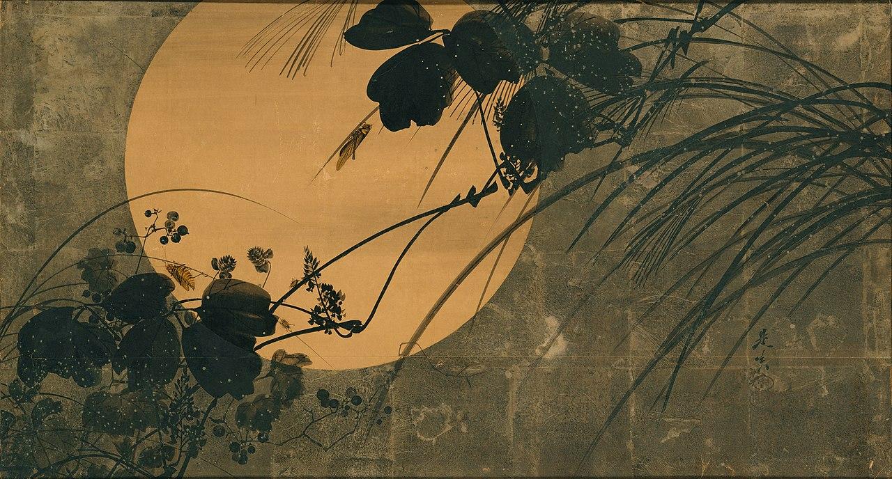 Shibata Zeshin, Erbe autunnali al chiaro di luna, ca. 1872–91