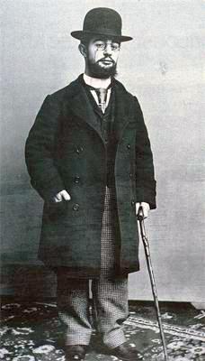 Fotografia scattata nel 1894 raffigurante Henri de Toulouse-Lautrec