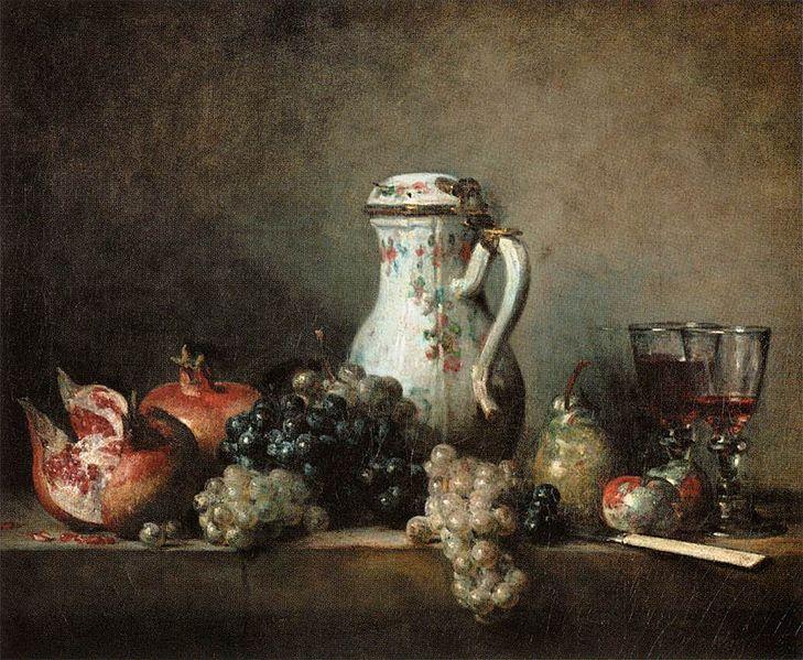 La Frutta nell'Arte: Jean-Siméon CHARDIN,Raisins et grenades Pendant de La Brioche,1763 © 2010 Musée du Louvre