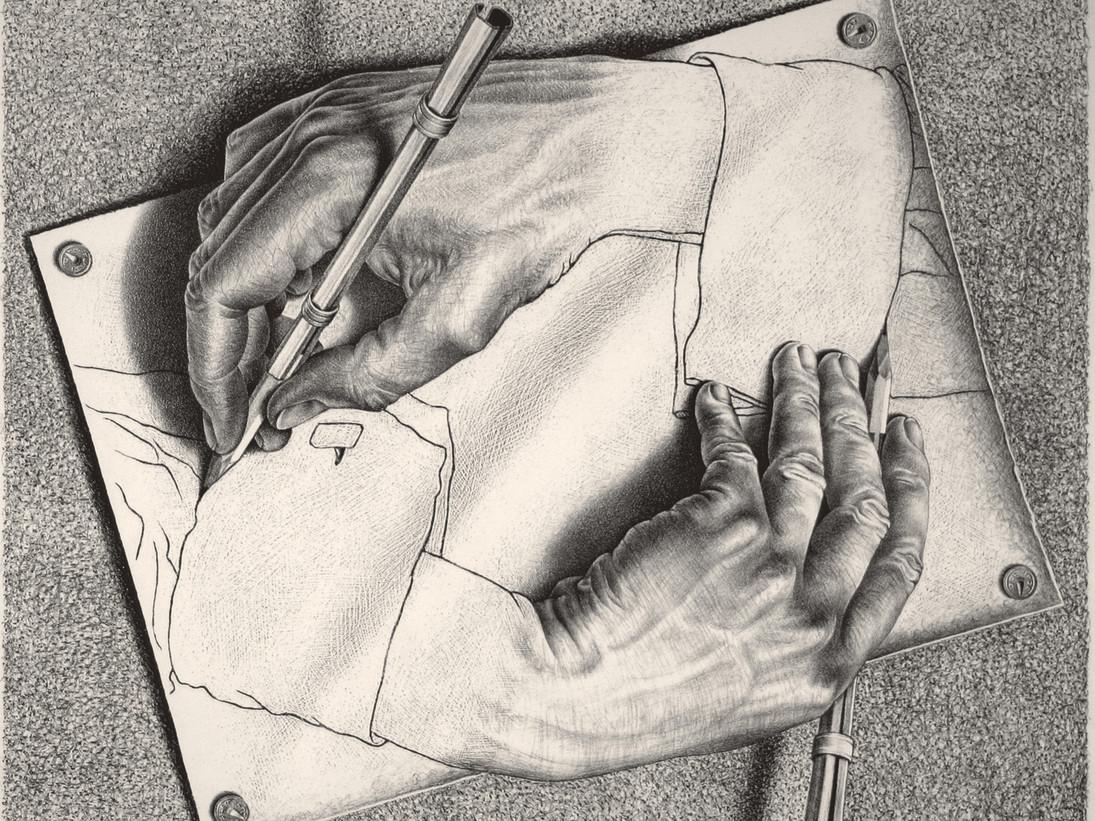 Mani che disegnano, Escher