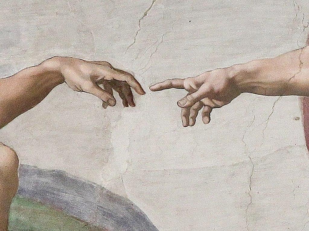 dipinti con le mani - Michelangelo Buonarroti, 1511 circa, affresco, 280×570 cm , Cappella Sistina, Città del Vaticano