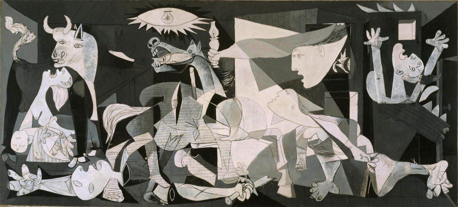 Pablo Picasso, Guernica, maggio – giugno 1937, olio su tela, cm 351 x 782. Madrid, Museo Nacional Centro de Arte Reina Sofía