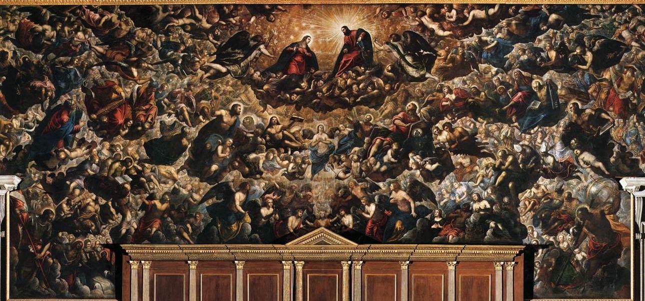 dipinti di grandi dimensioni: Tintoretto, Paradiso, 1588-1592, Venezia, Palazzo Ducale