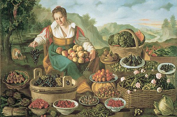 La Frutta nell'Arte: Vincenzo Campi, La Fruttivendola (Milano, Pinacoteca di Brera)