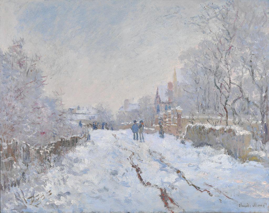 Claude Monet, Scena nevosa ad Argenteuil (1875); olio su tela, 71.1x91.4 cm, National Gallery, Londra