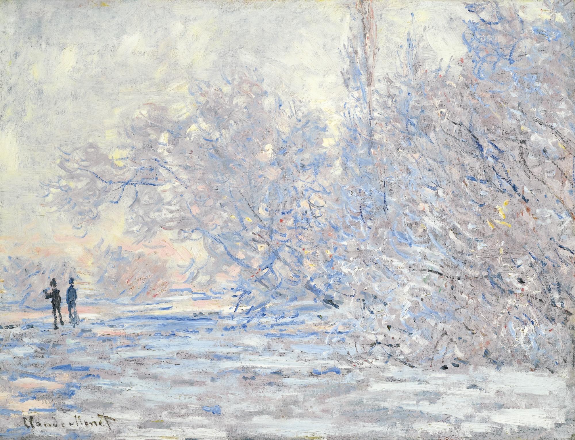 Frost in Giverny (Le Givre à Giverny) - Claude Monet, collezione privata