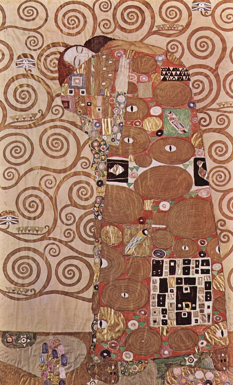 Gustav Klimt, 1905 - 1909, Tecnica mista su carta, 194 cm×121 cm © Museum für angewandte Kunst, Vienna, Austria