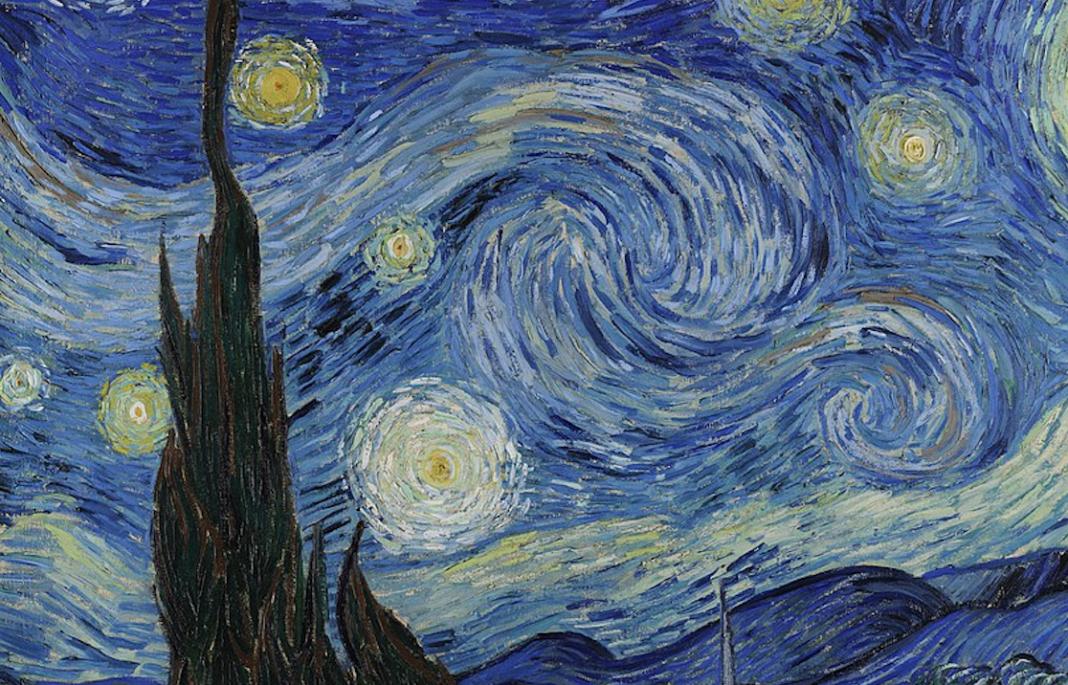 Notte stellata, 1889, olio su tela, cm 73,7 x 92. New York, Museum of Modern Art (MoMa)