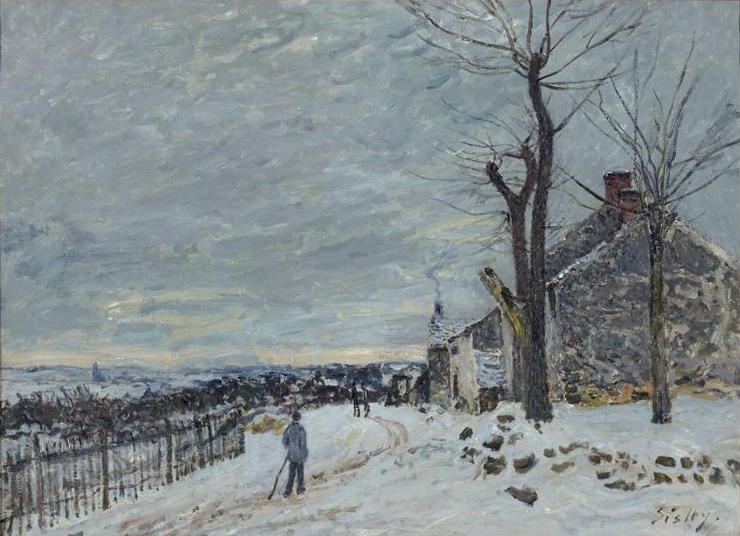 Sisley, Tempo di neve a Veneux-Nadon, 1880 circa, Musée d′Orsay, Paris, France
