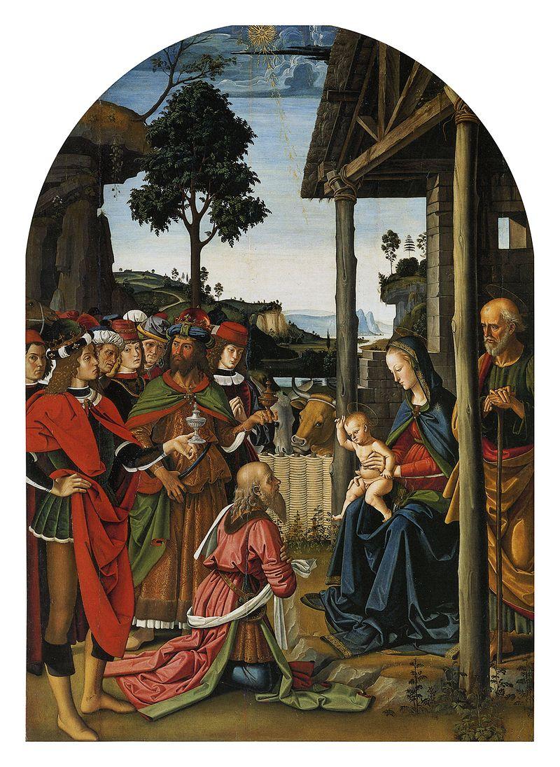Pietro Perugino: Adorazione dei Magi. Cat. no. 6 in Vittoria Garibaldi: Perugino. Catalogo completo. Octavo, Firenze 2000