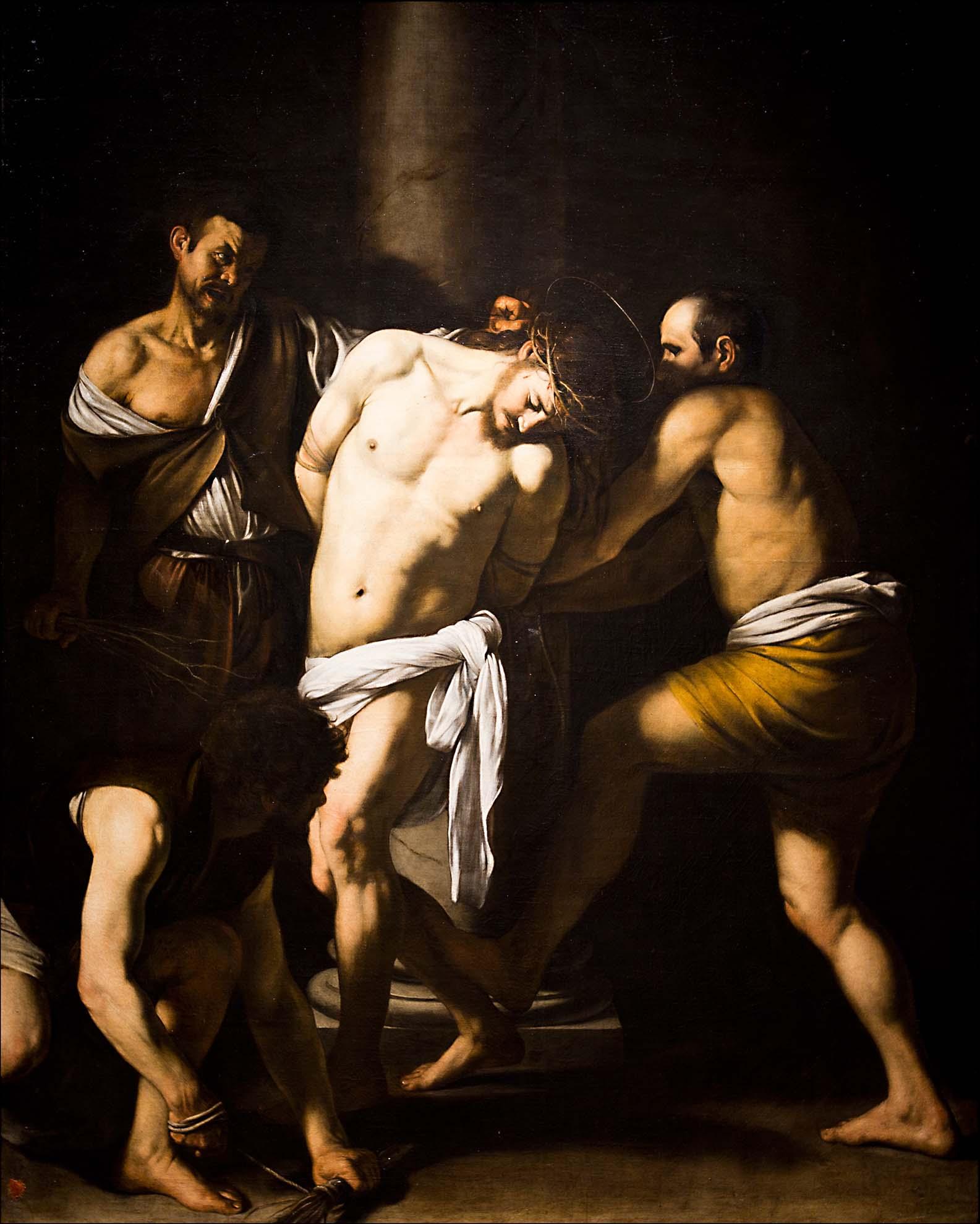 """Caravaggio, """"Cristo alla colonna"""" - Museo di Capodimonte - Salottino pompeiano - Capodimonte - sale dell'800 - Sala da scrivere - Salone delle feste. """"Courtesy Museo e Real Bosco di Capodimonte"""""""