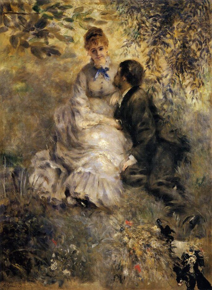 Pierre Auguste Renoir, Gli innamorati, 1875, Praga, Galleria Nazionale, olio su tela