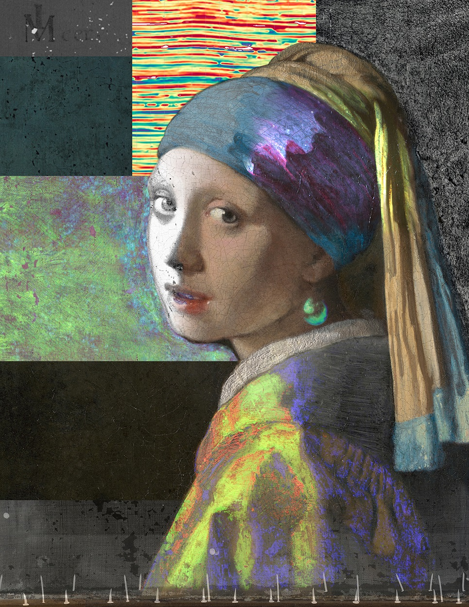 Composite image of Girl with a Pearl Earring from images made during the Girl in the Spotlight project. [Sylvain Fleur and the Girl in the Spotlight team]