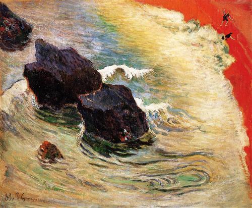 Paul Gauguin, L'onda, 1888, olio su tela