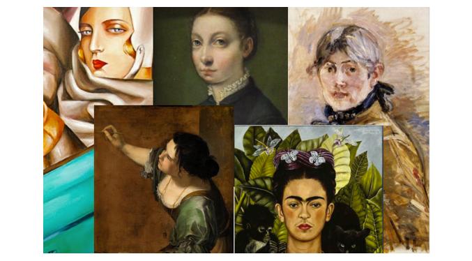 autoritratti di donne pittrici