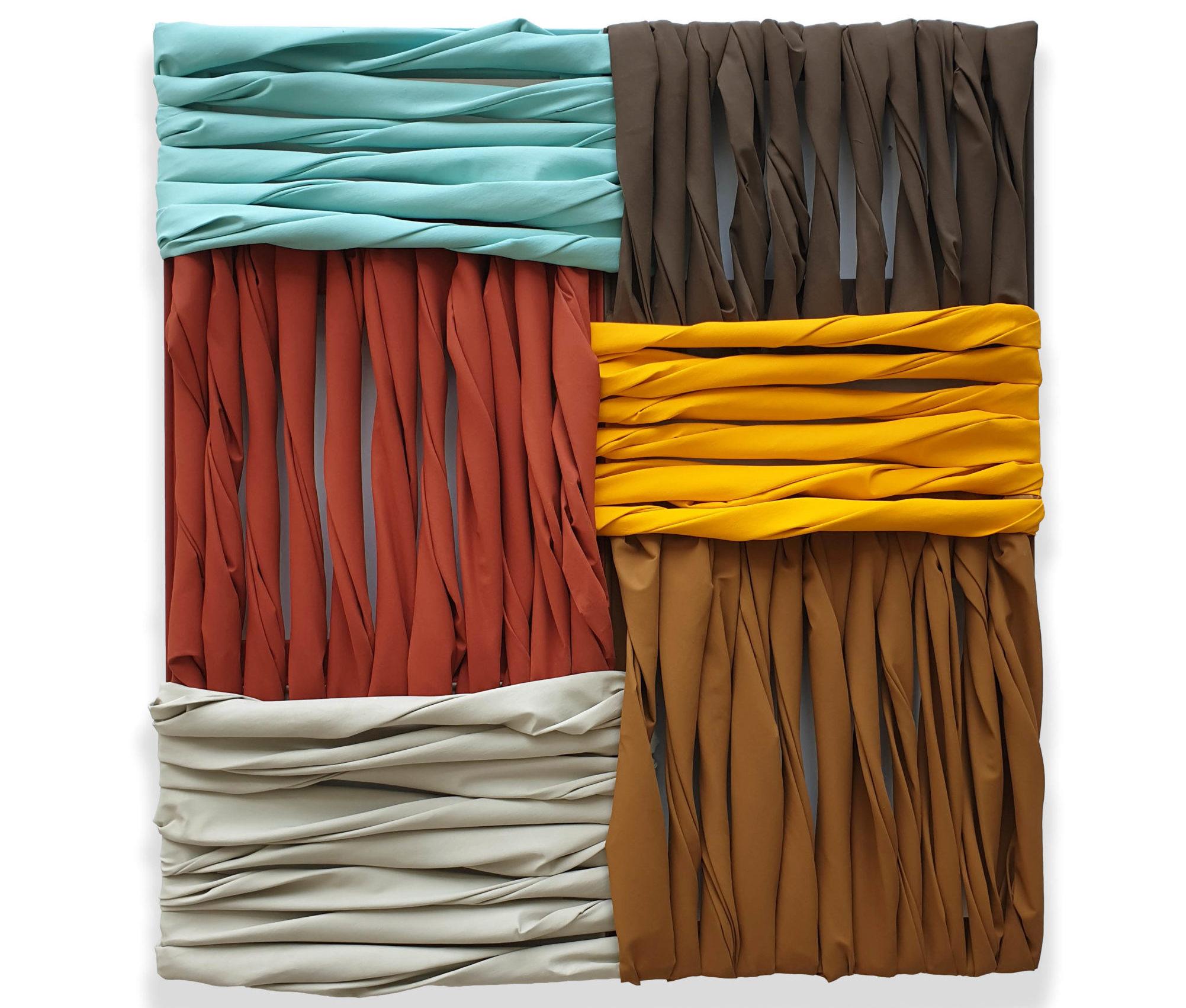 The Bathers, pigmento acrilico su tela e telai, 134 x 124 x 11 cm, 2020 – Courtesy Bislacchi Studio
