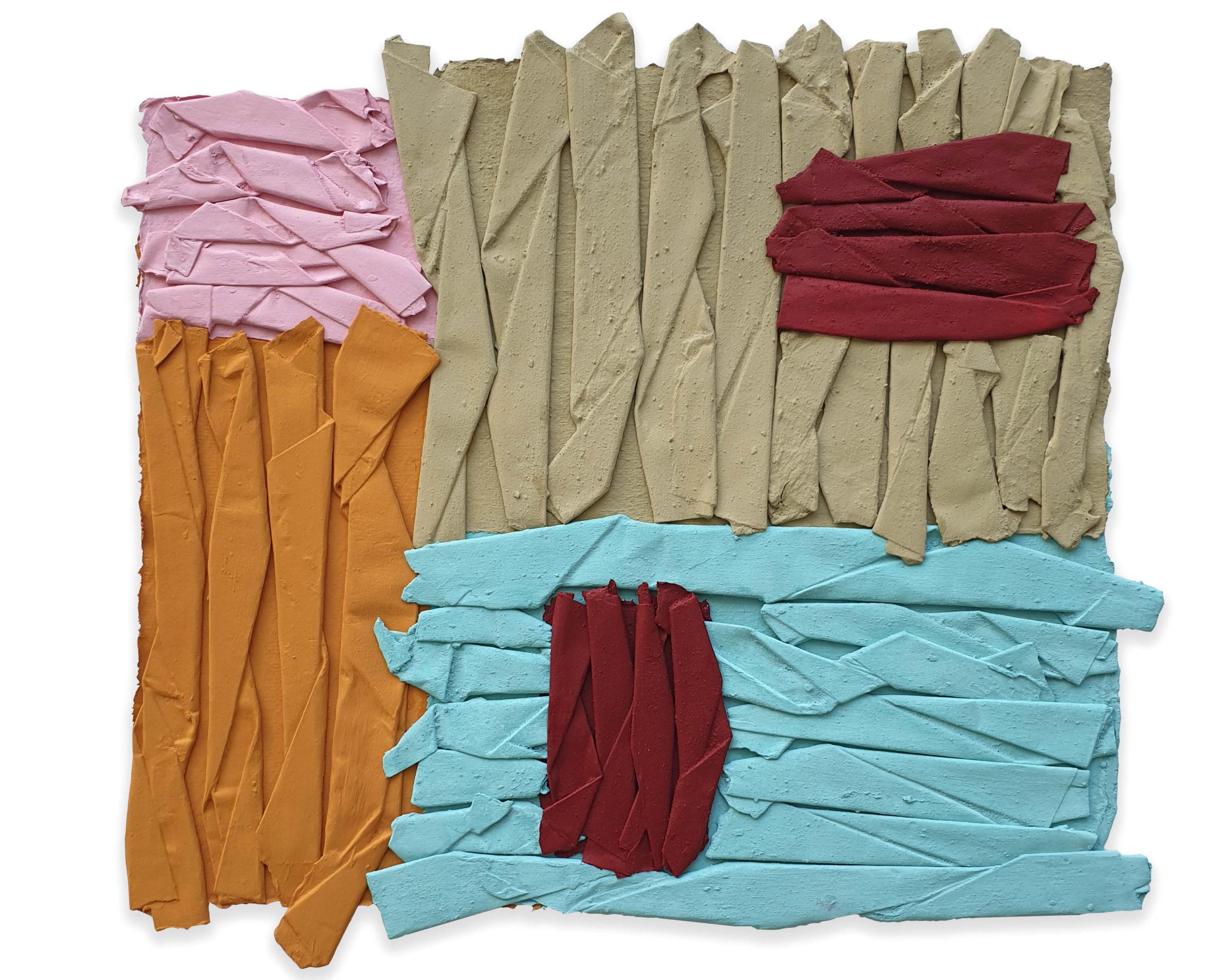 Wall of Paper Stromboli, pigmento acrilico su carta, 32 x 33 cm, 2020 – Courtesy Bislacchi Studio