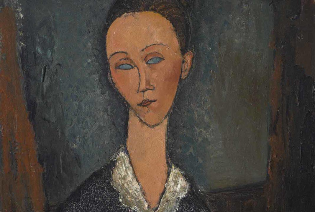 Ritratti di Modigliani, Femme au col blanc, 1917, olio su tela.