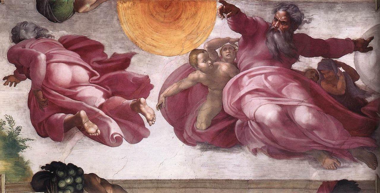 Michelangelo - Creazione del Sole e degli Astri