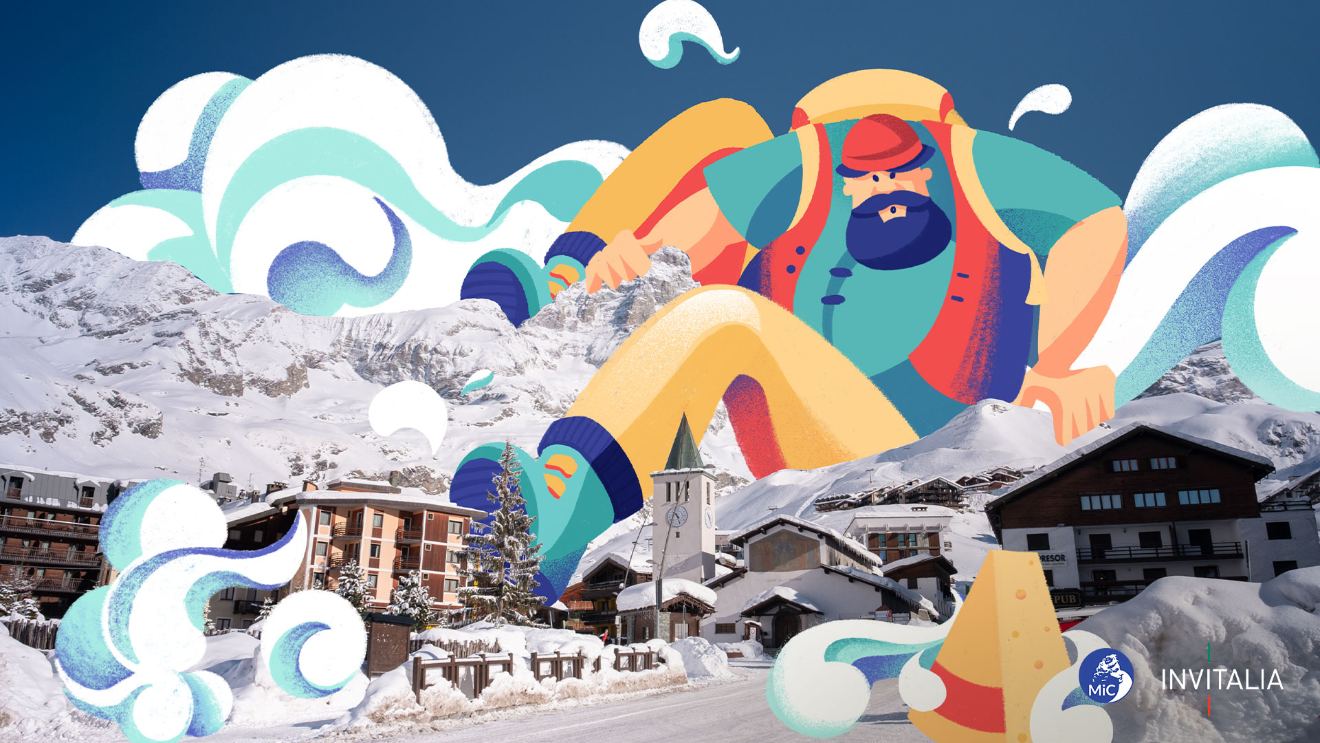 Cervinia (AO), Valle D'Aosta | Illustrazione di Chiara Vercesi