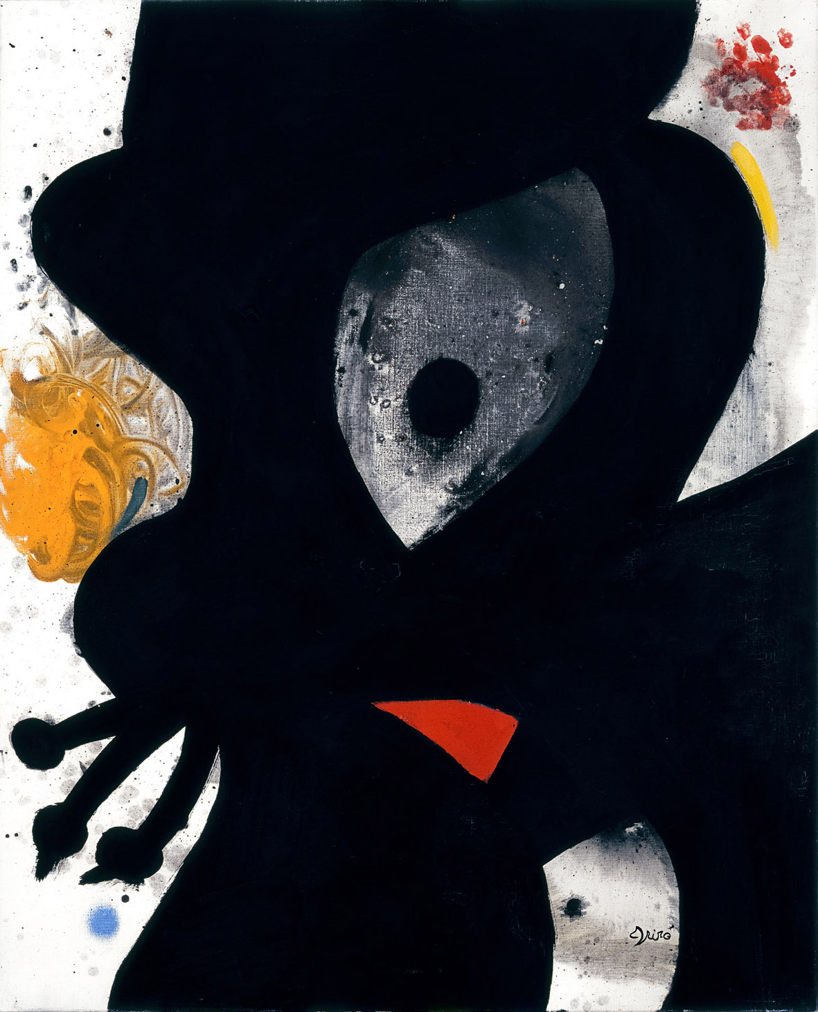 Joan Miró, Tête, 1976, olio su tela. Foto Joan Ramon Bonet. Archivo Successió Miró. © Successió Miró : ADAGP, Paris, by SIAE 2021