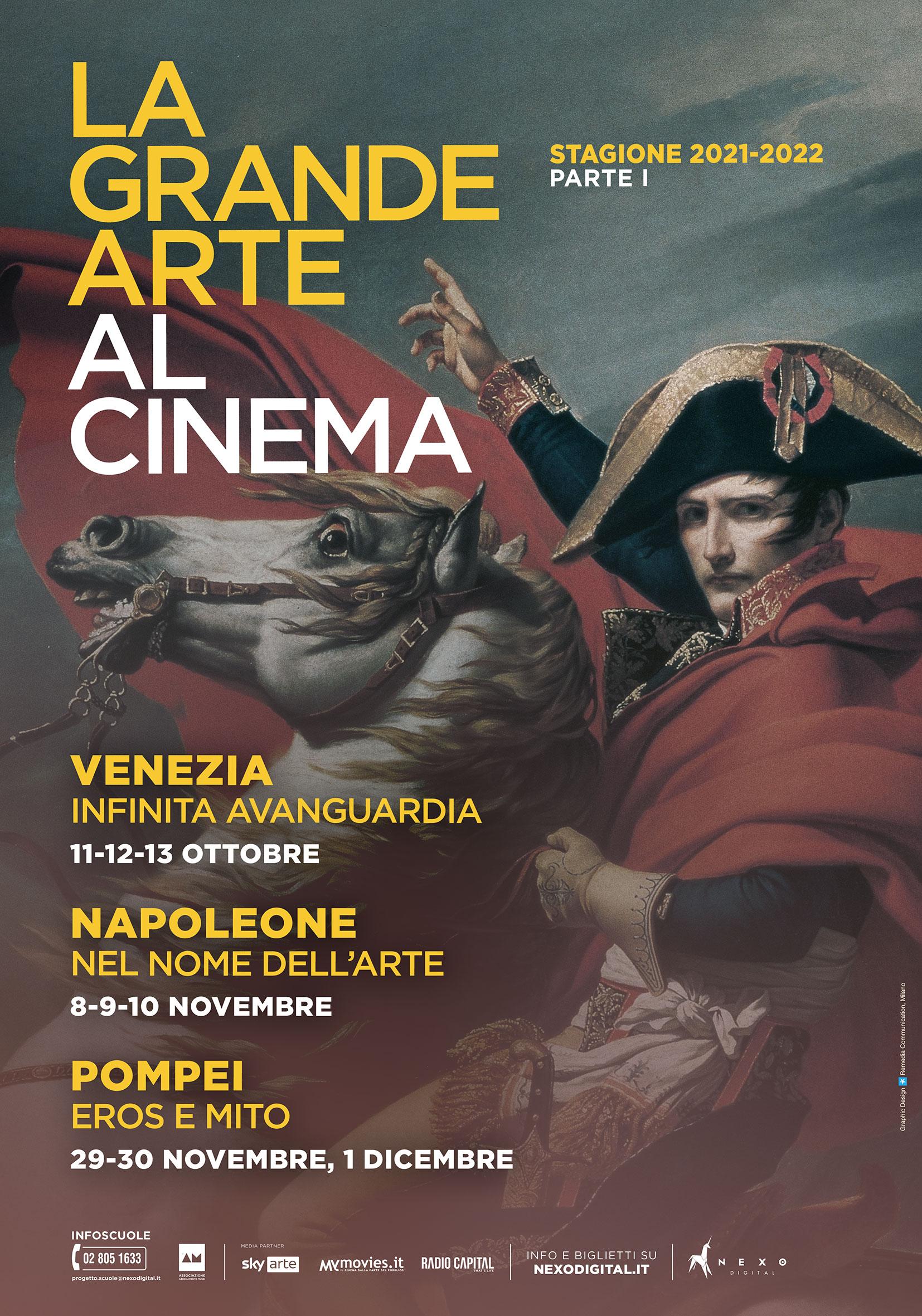 La Grande Arte al Cinema torna con Venezia, Napoleone e Pompei